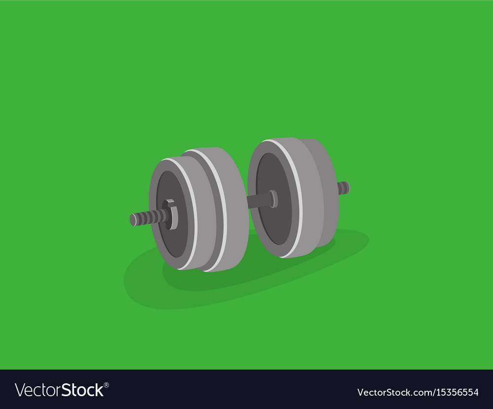 Strength training dumbbell equipment great weight vector image
