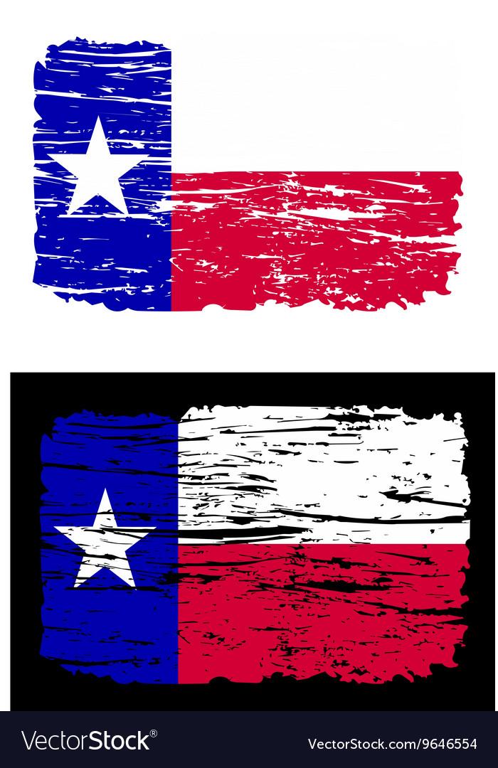 Texas flag grunge lone star