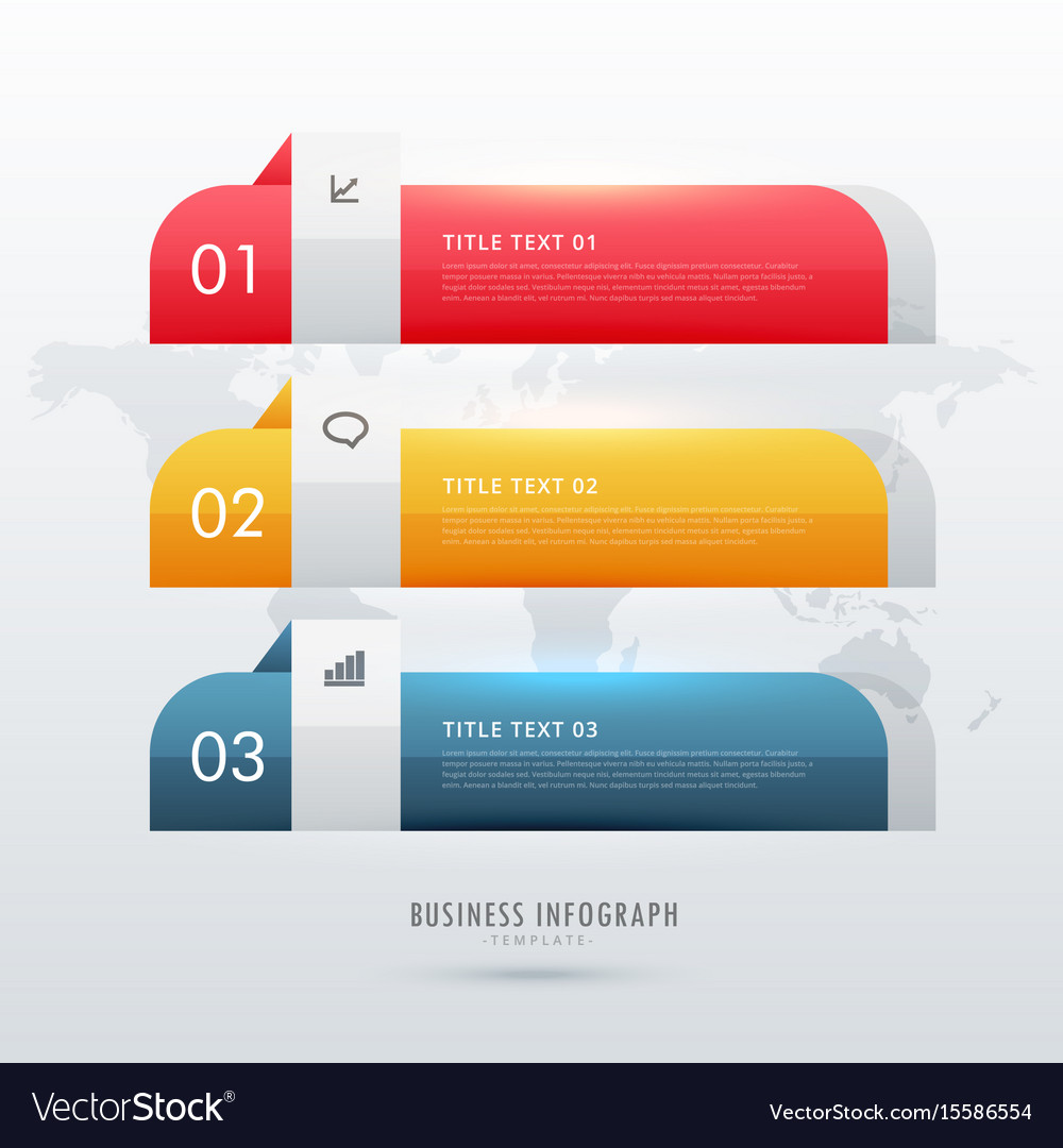 Three steps business infographic design template