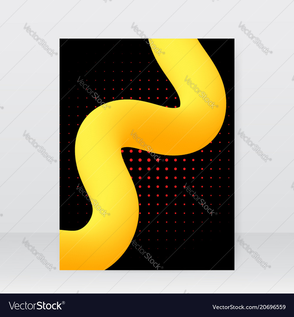 Brochure design template with an abstract