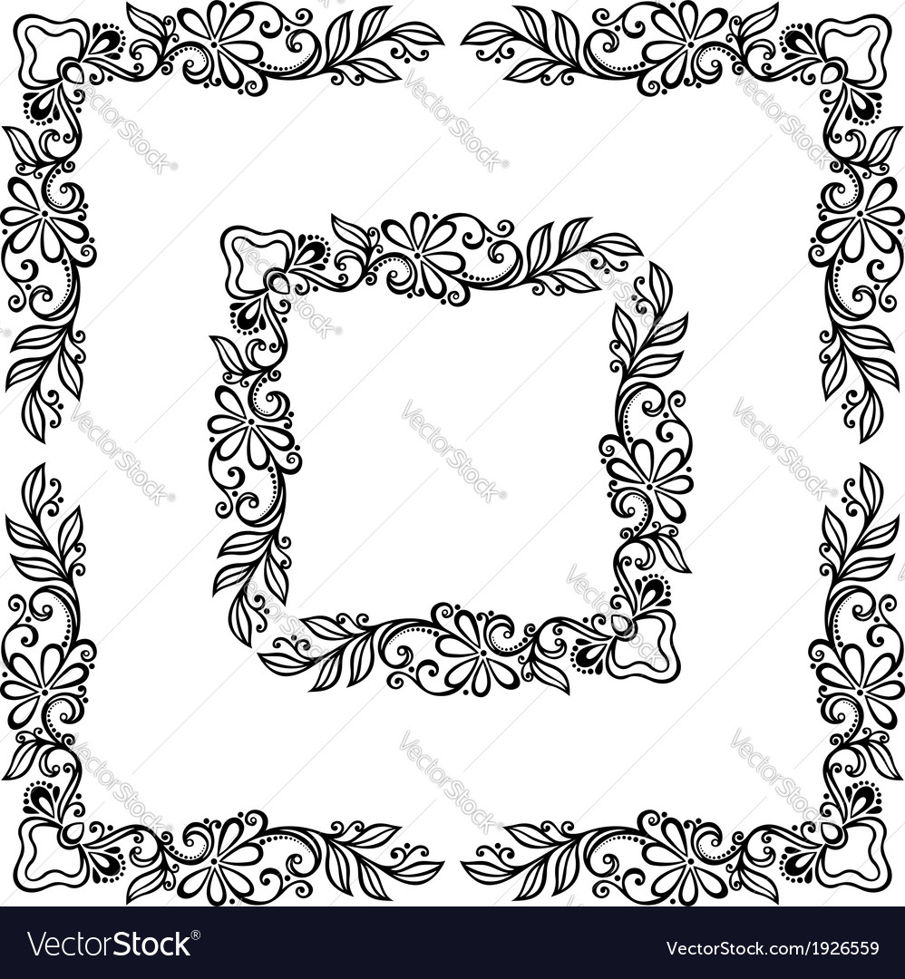 Decorative Floral Frame Ornament Royalty Free Vector Image