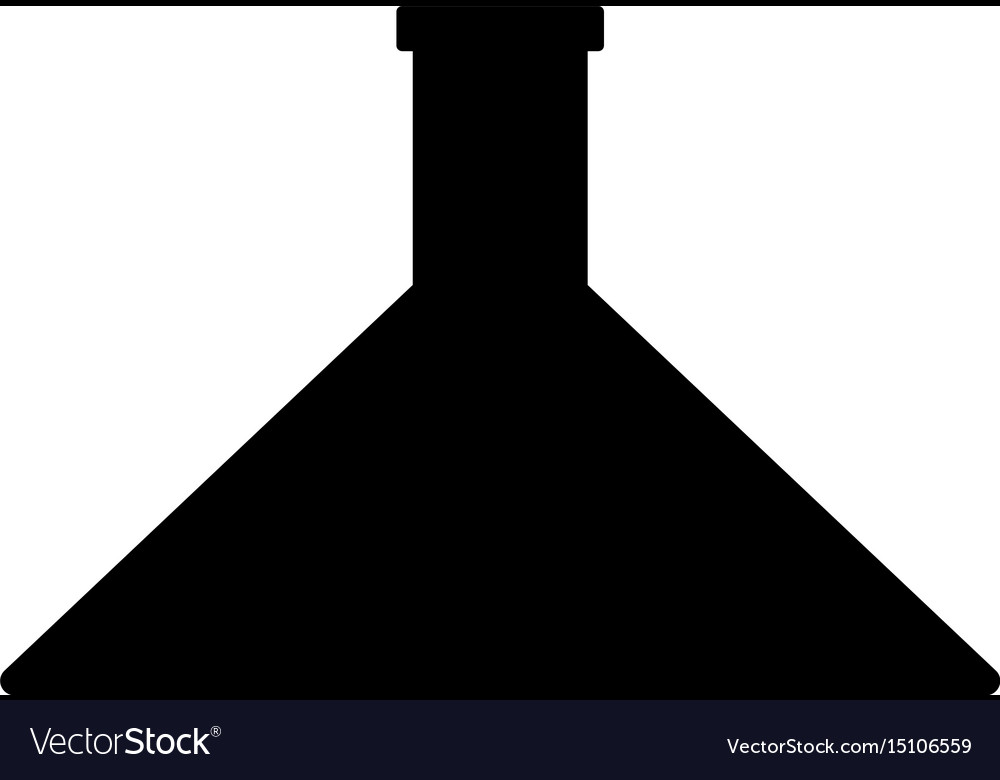 Flask the black color icon