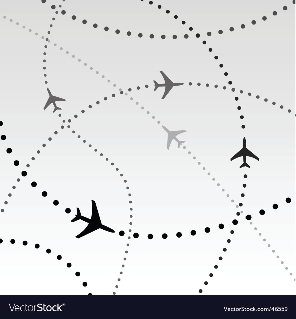 Flight paths vector image