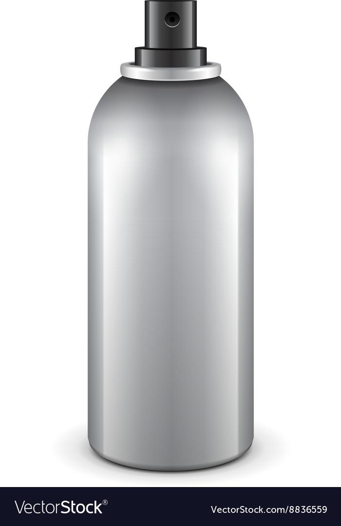 Gray Aerosol Spray Metal 3D Bottle Can Paint