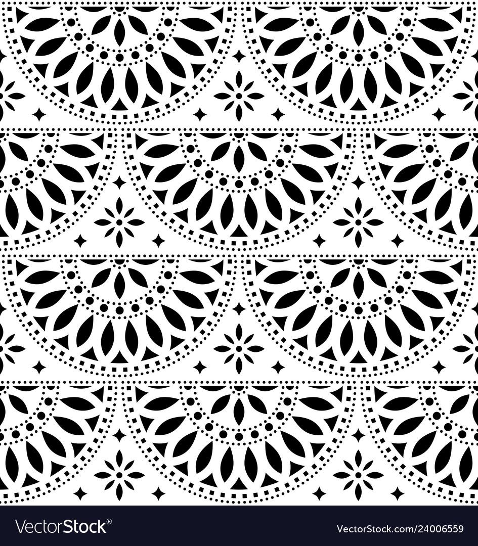 Mexican folk art seamless geometric pattern