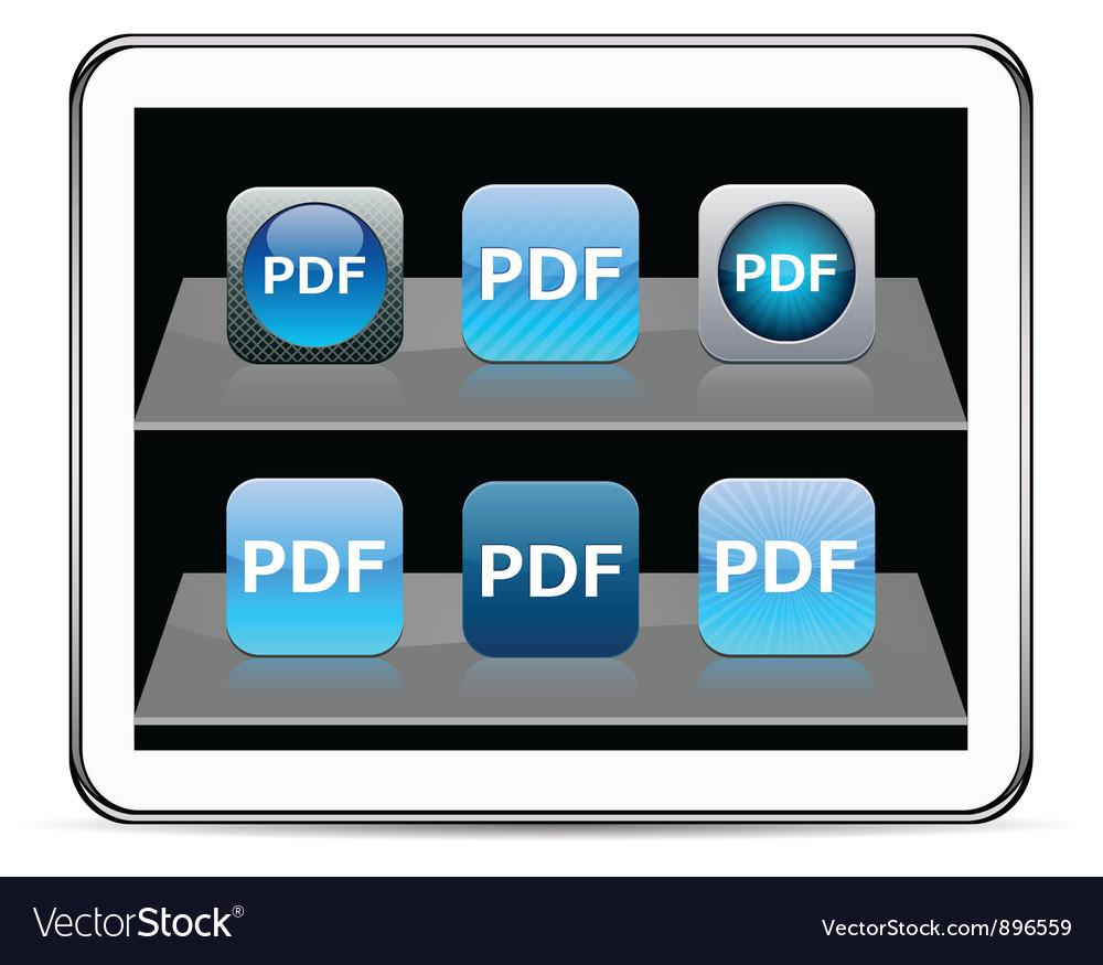 PDF blue app icons