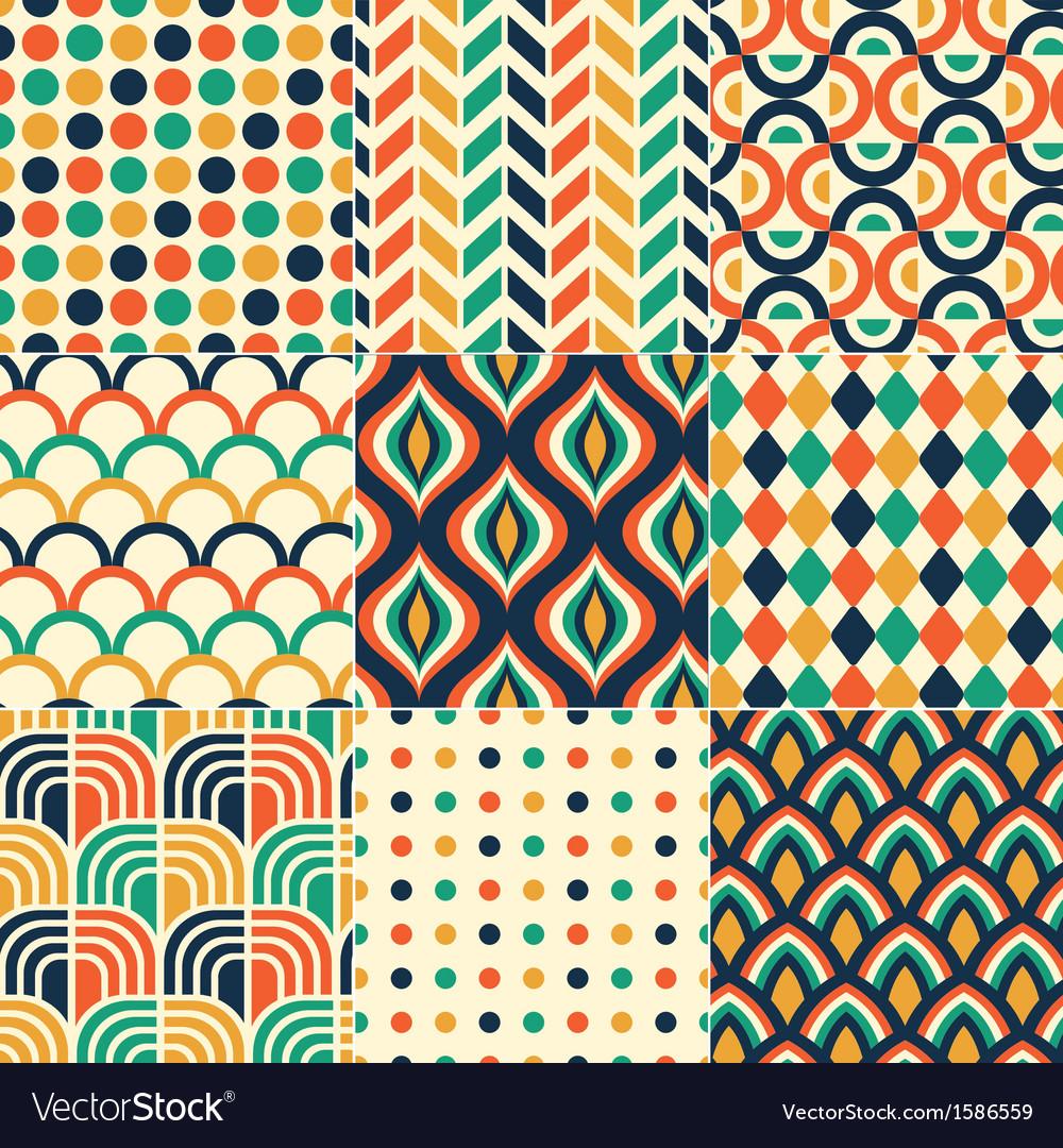 Seamless retro colorful pattern