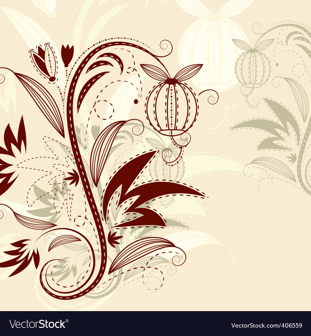 Vector floral background vector image