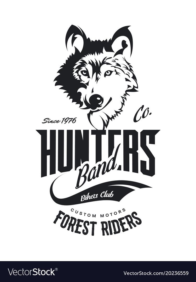 Vintage wolf custom motors club t-shirt