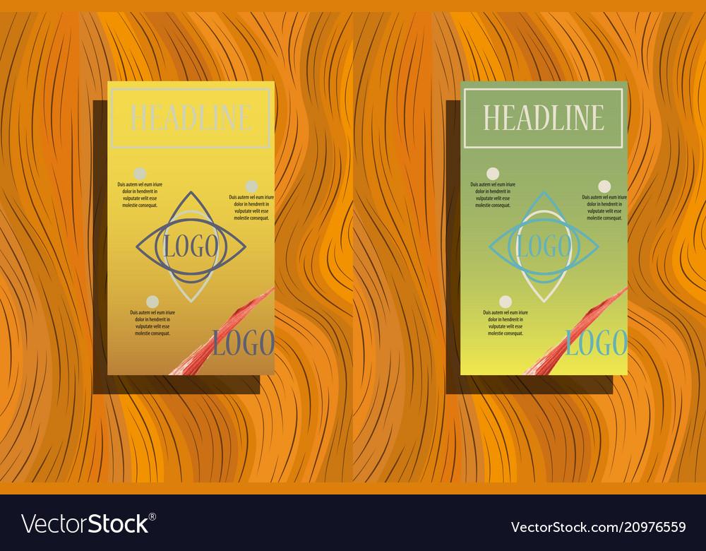 White geometric brochure template design