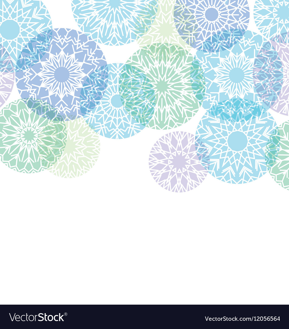 Abstract snowflakes background of snow Christmas