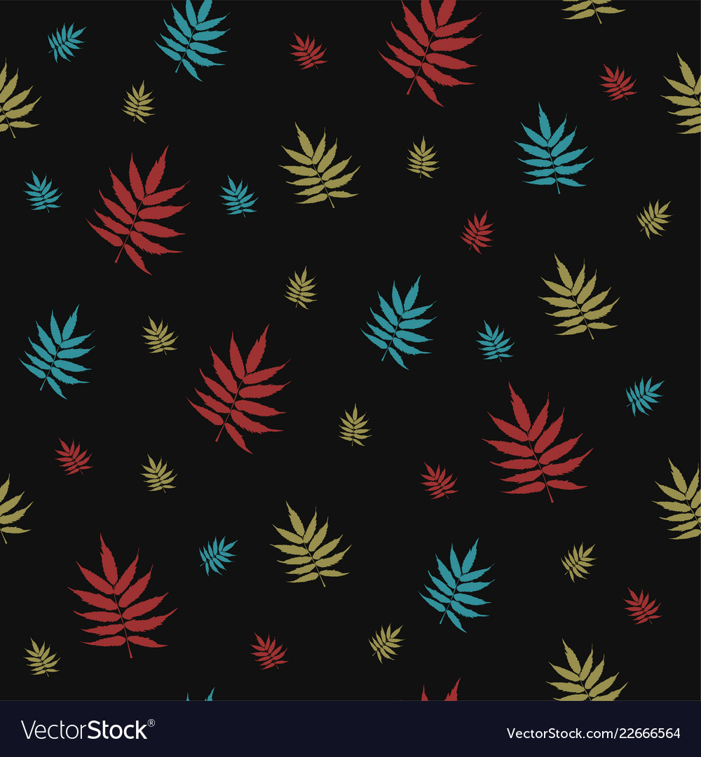 Beautiful seamless pattern with falling leaves