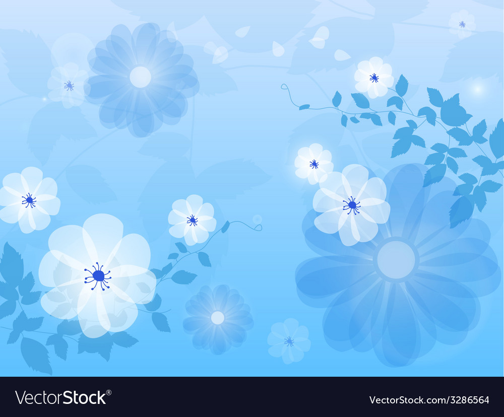 blue floral background flower royalty free vector image