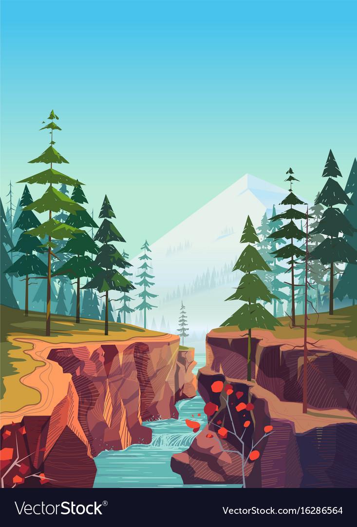 Canyon background natural landscape