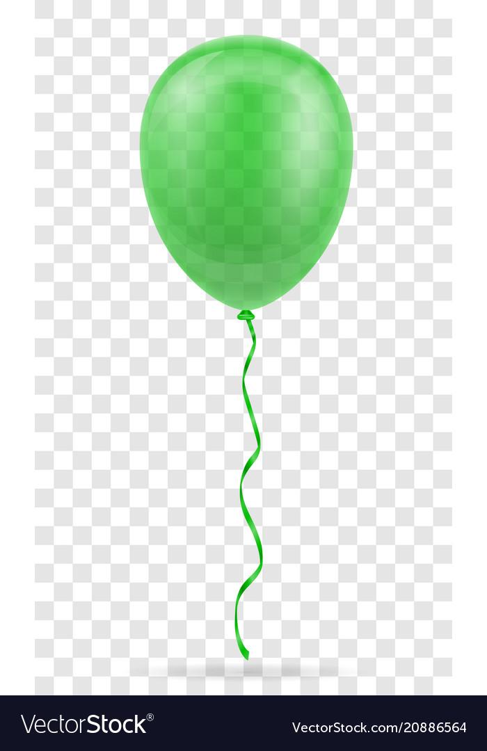 Celebratory green transparent balloon pumped