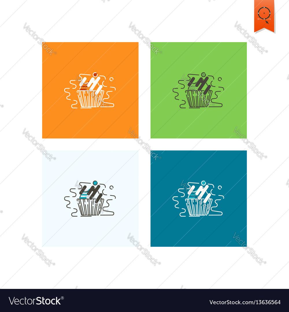 Cupcake modern flat icon