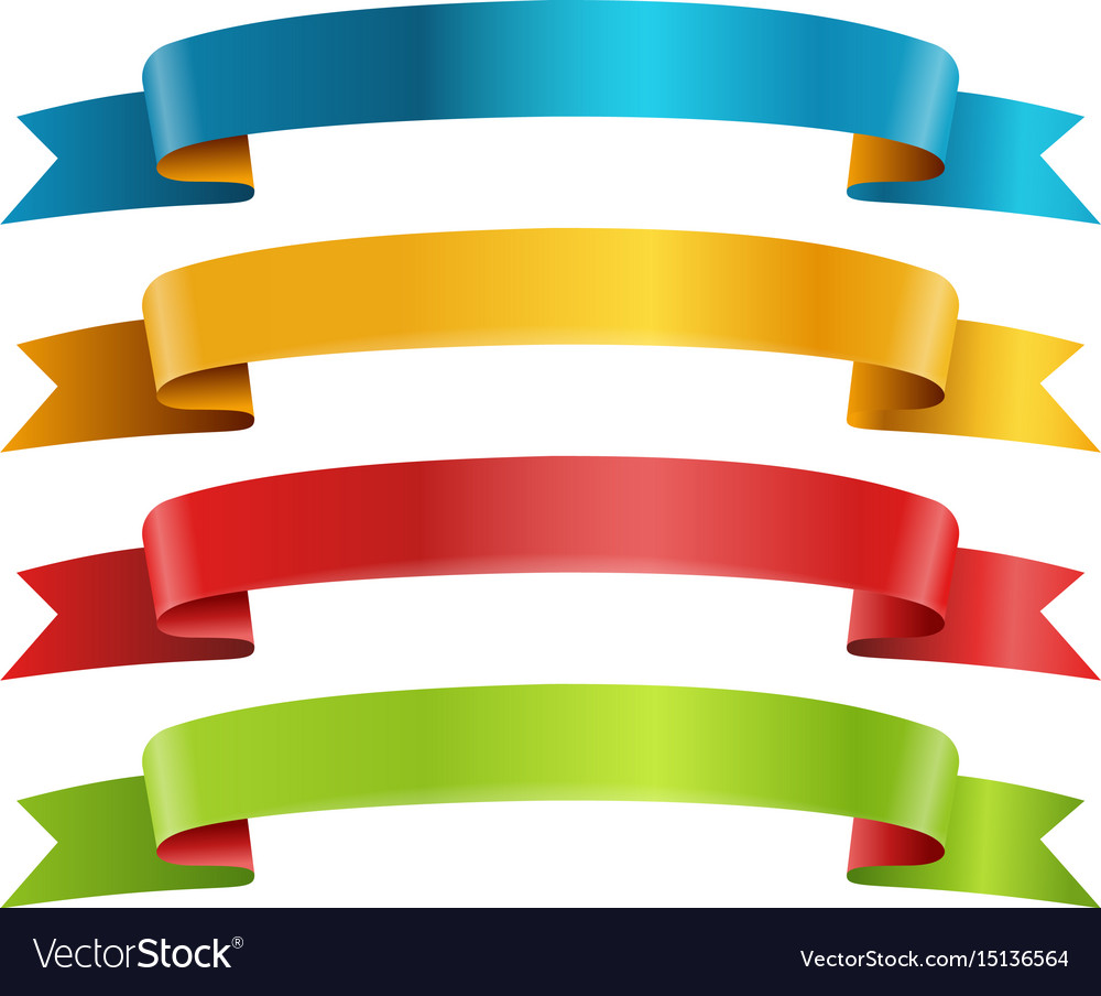 Different color ribbons collection template for a