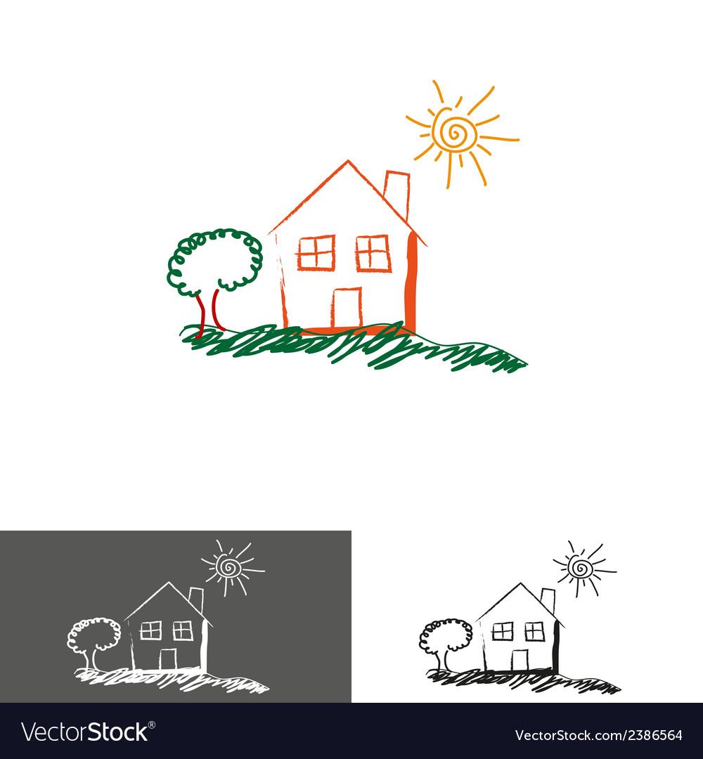 Home house logoicon vector image