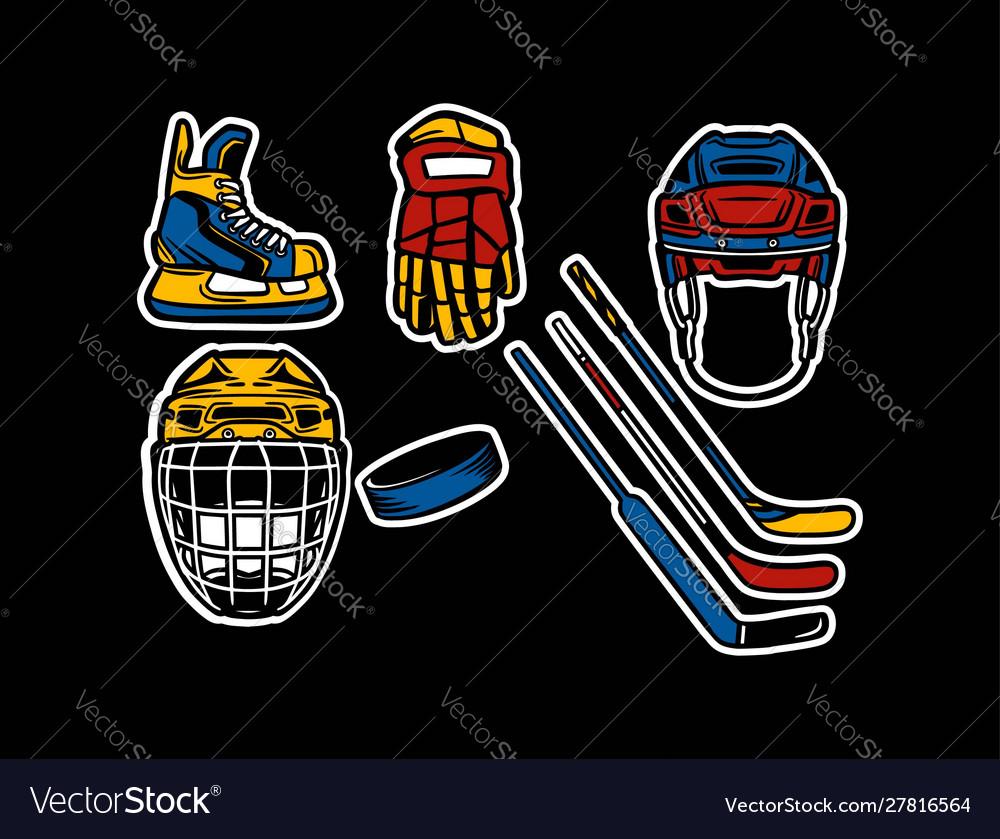 Ice hockey equipment pack