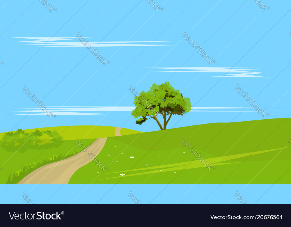 Lone tree with rural land