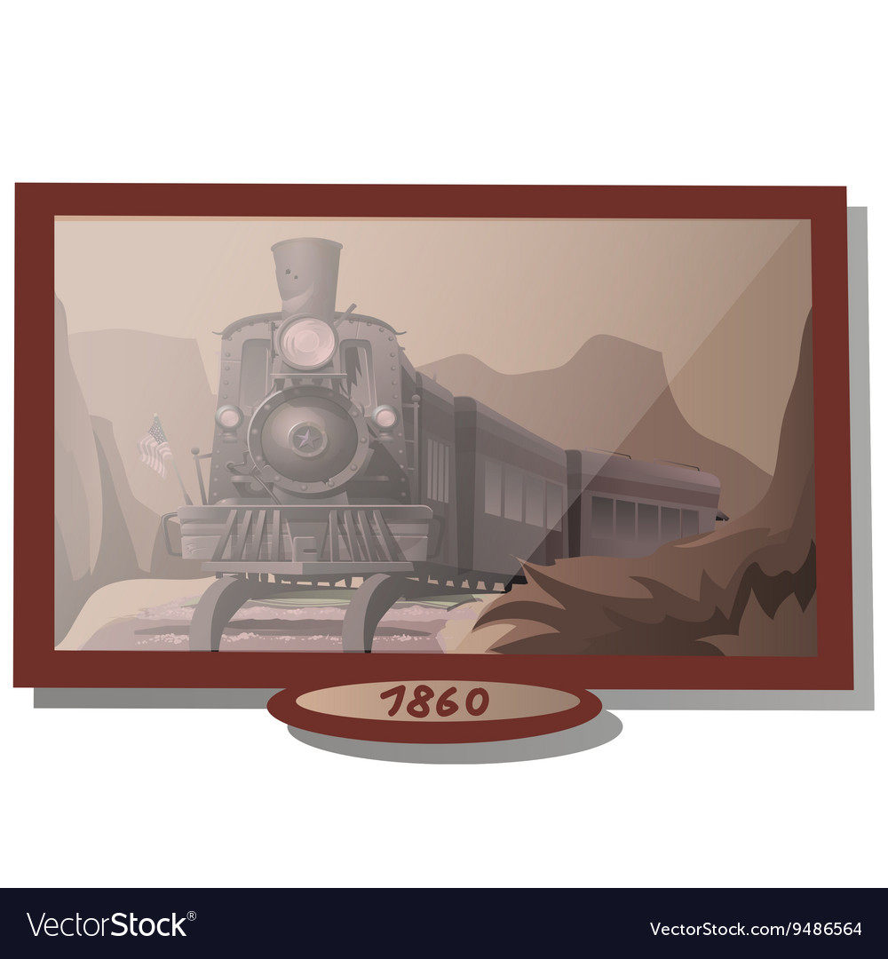 Picture eighteenth-century with American train