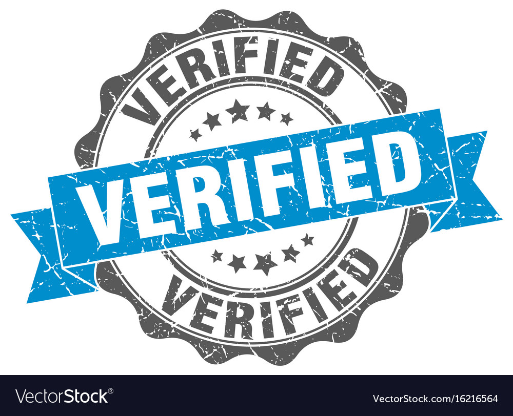 Verified stamp sign seal vector image