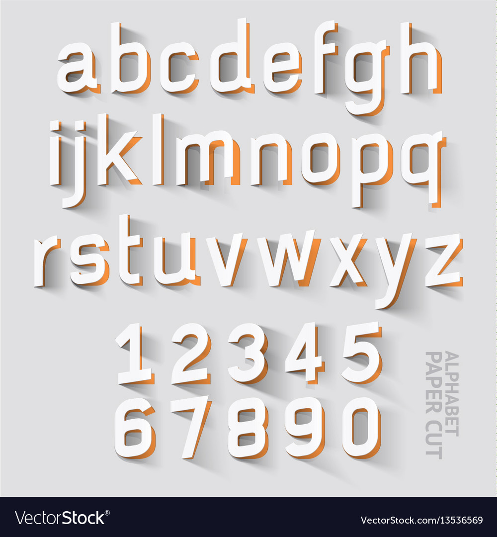 Alphabet paper cut designs