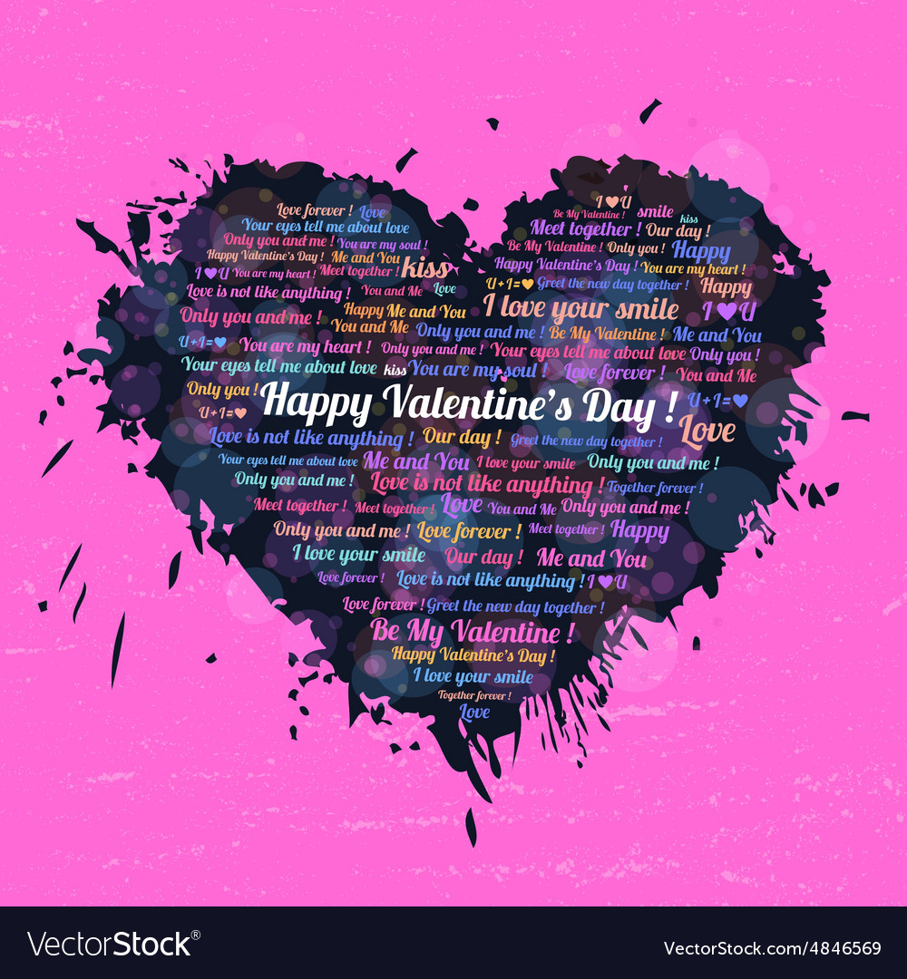 Black heart on Valentines Day