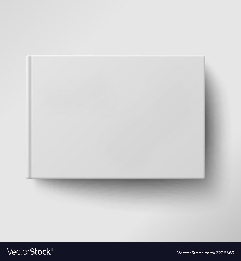 Blank album book cover isolated vector image