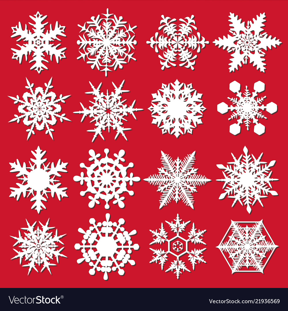 Crystal snowflakes - set for designers