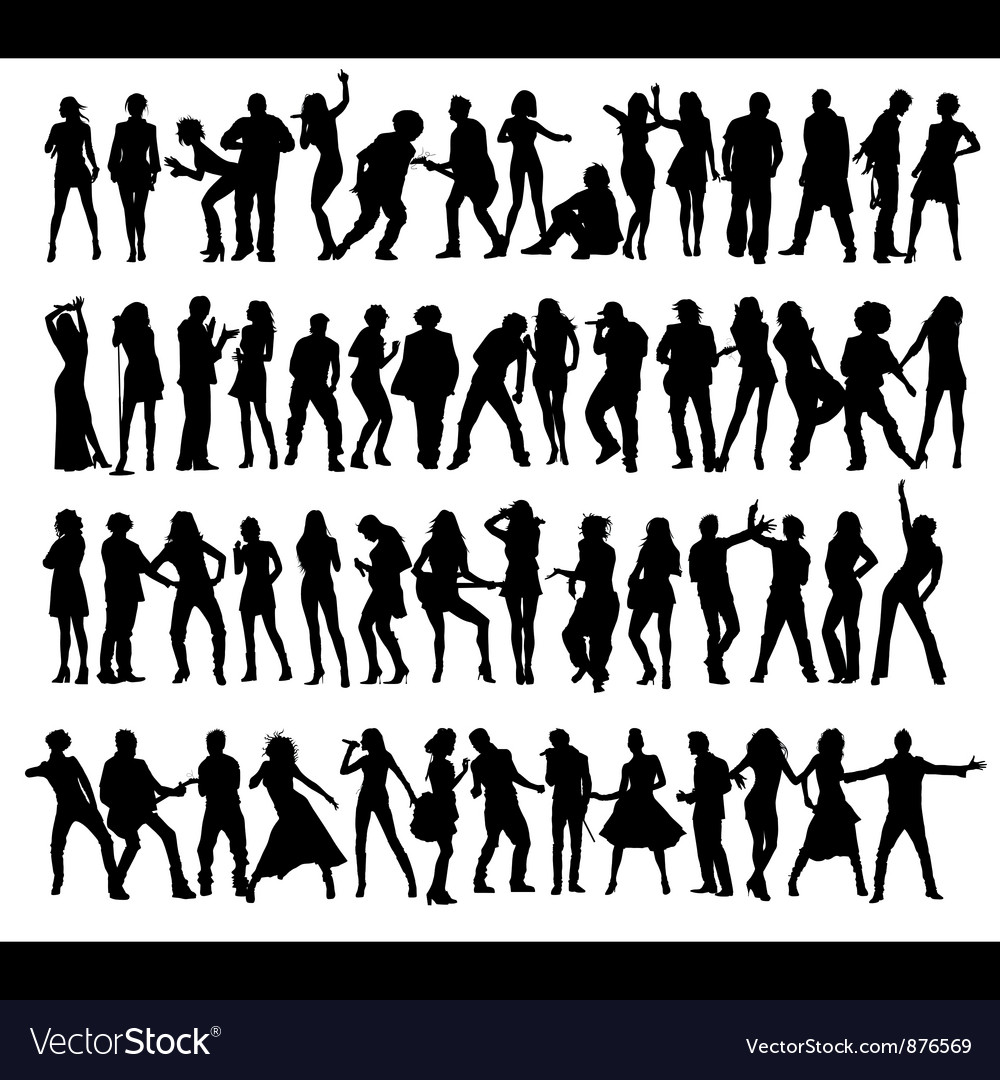 Dance and Sing people vector image