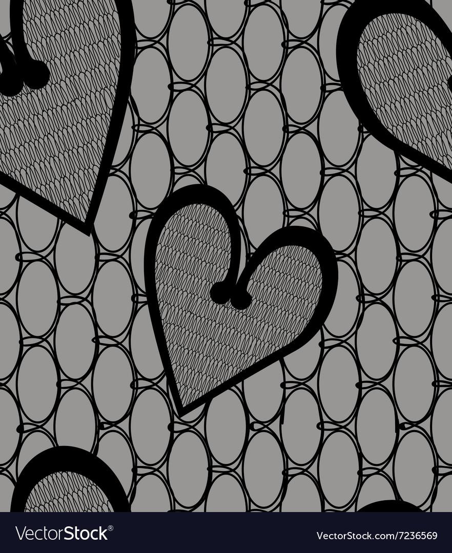 Heart lace seamless pattern