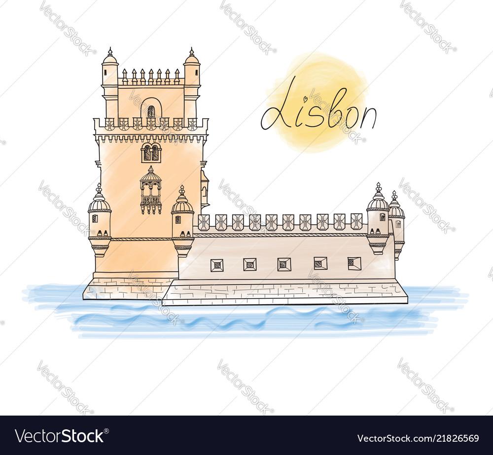 Lisbon tower landmark visit portugal card travel