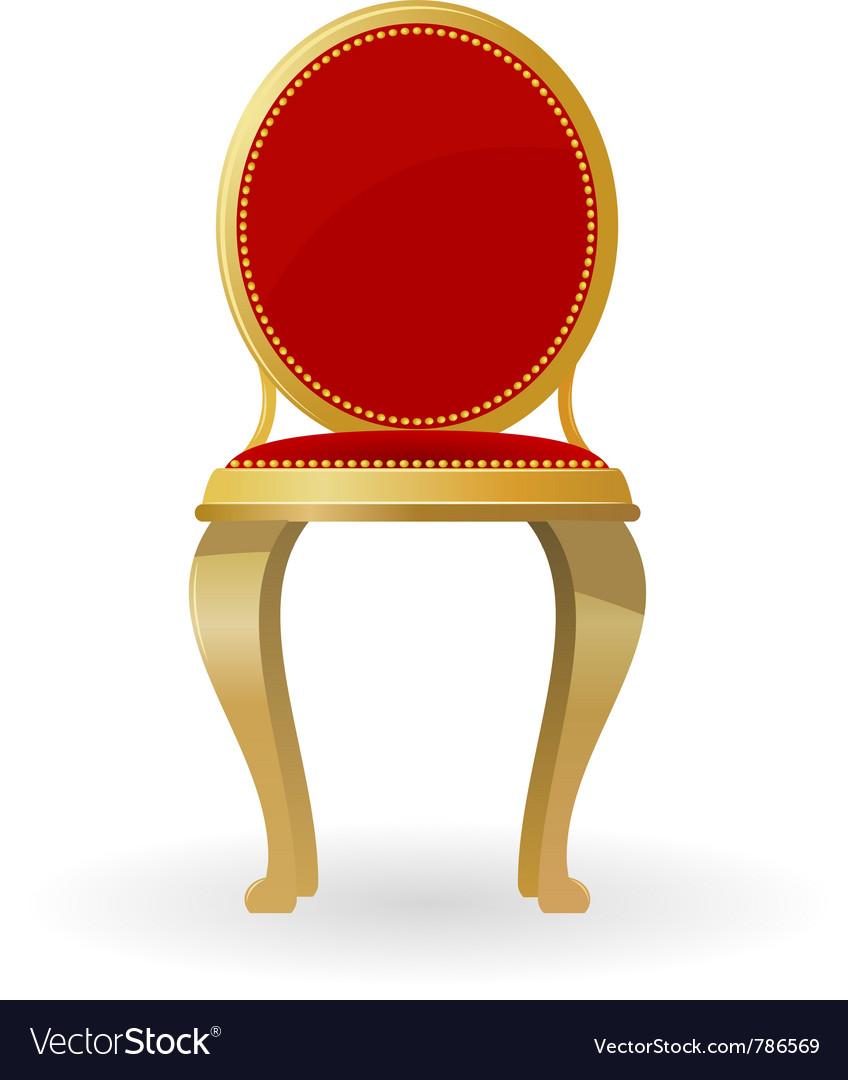 Retro chair vector image