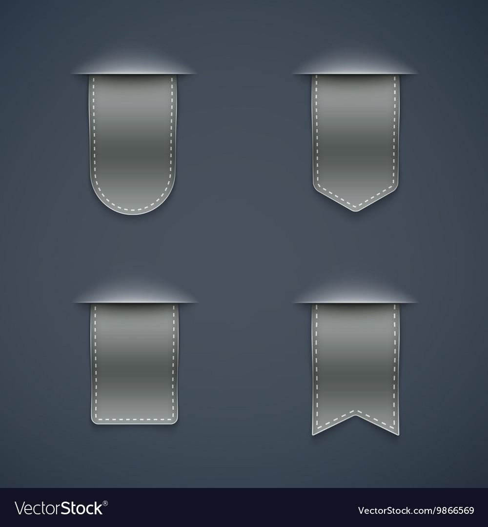 Set of grey ribbons