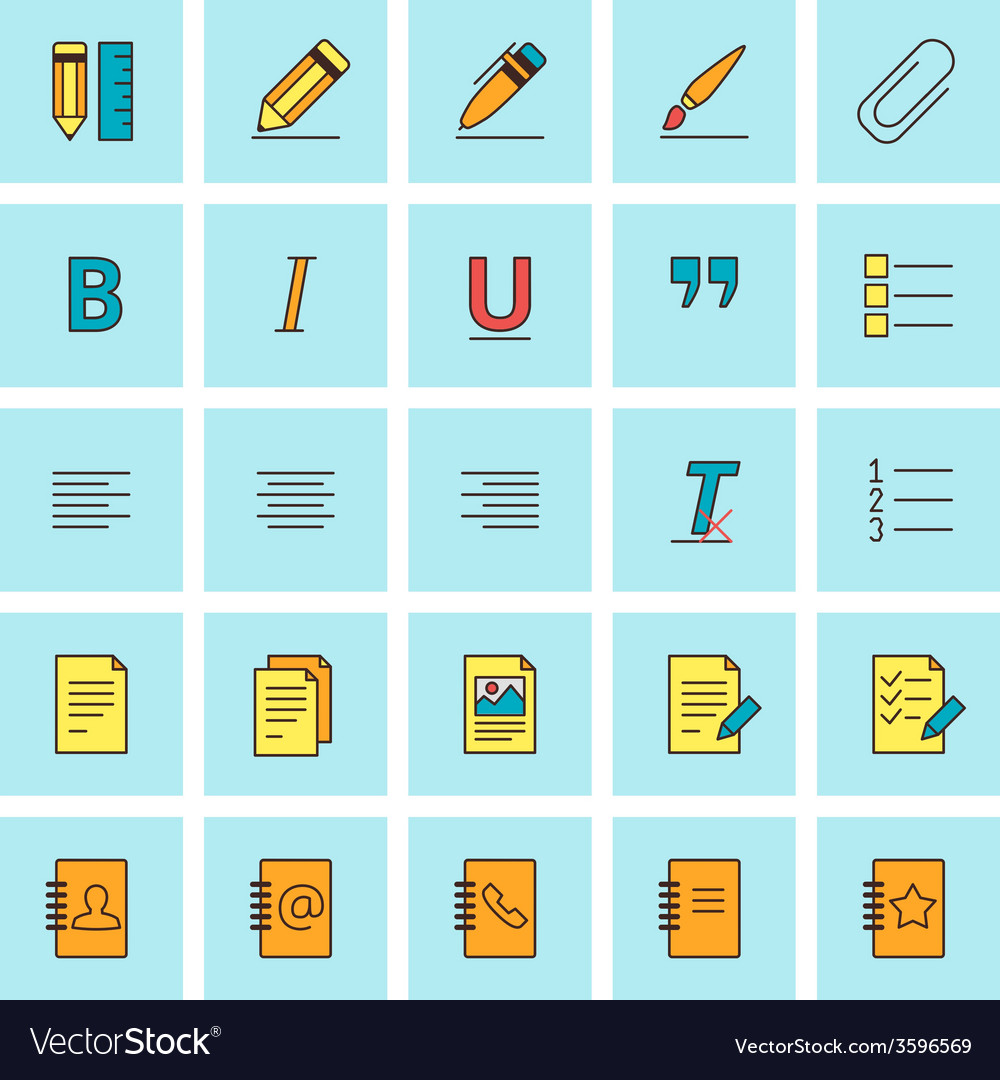 text formatting icons icon set in flat design vector image