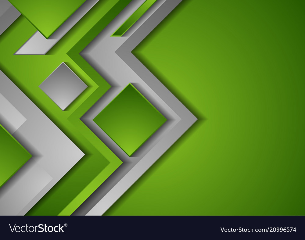 Abstract Green Tech Geometric Background