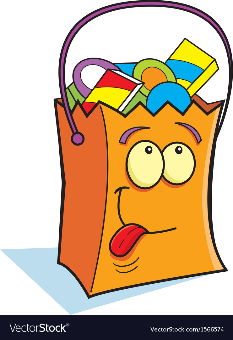 Cartoon Trick or Treat Bag vector image