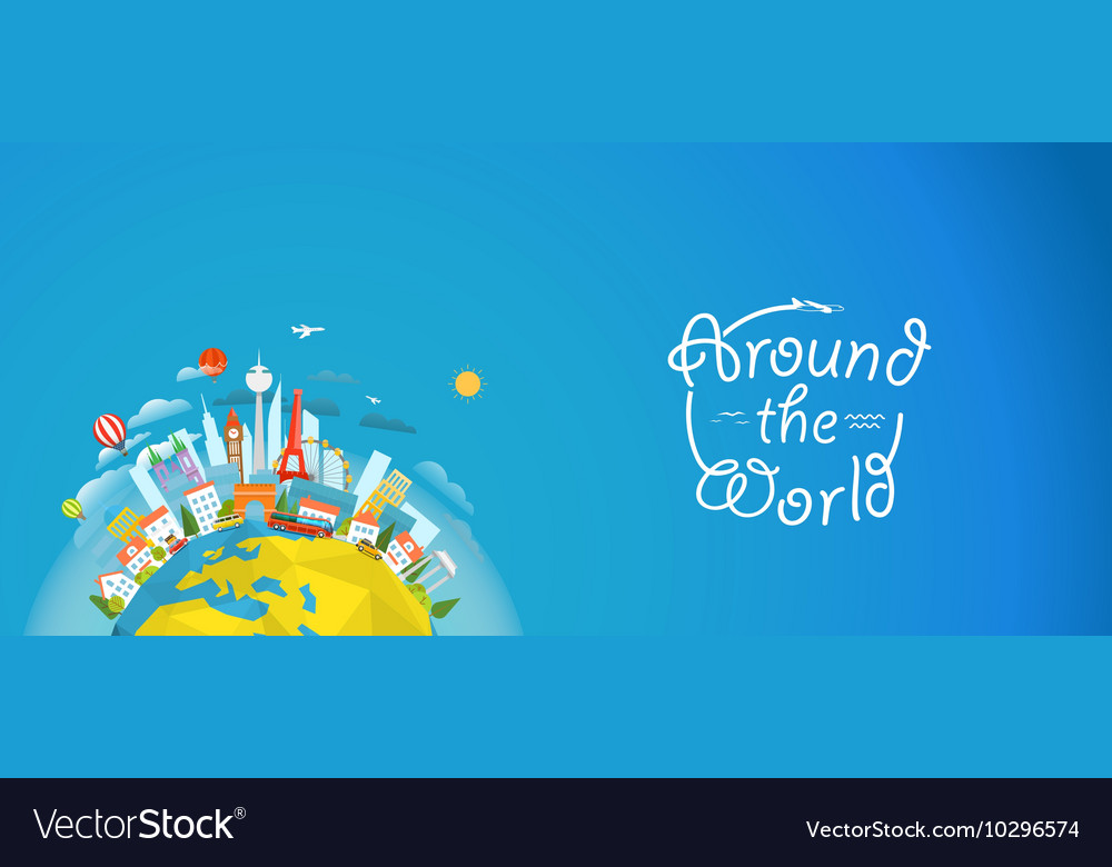 Famous signts around the world Travel concept