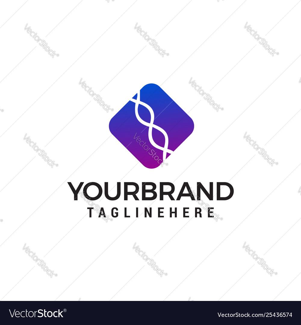 Genetic logo design concept template