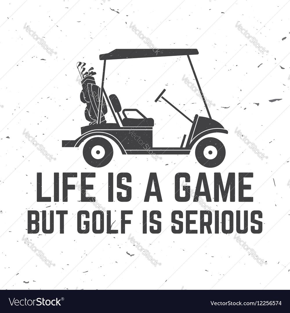 Golf club concept with golfer car