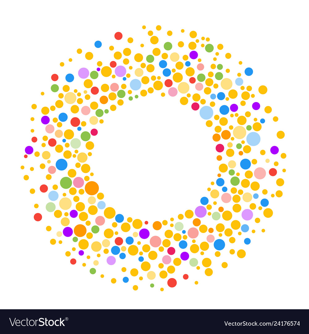 Round dots frame with empty space for your text
