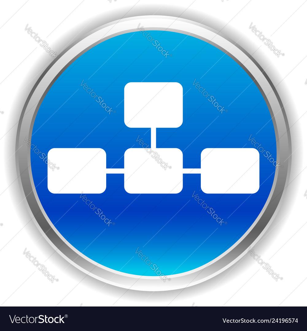 Topological hierarchical diagram icon multilevel
