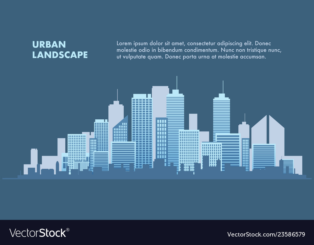 Banner urban landscape metropolis