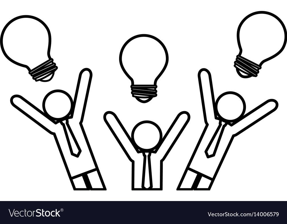 Business people teamwork silhouette