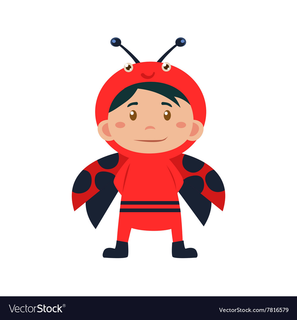 Child Wearing Costume of Ladybird