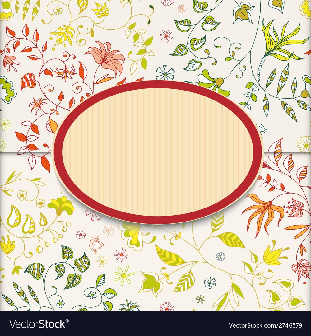 Flower Retro Sticker Background