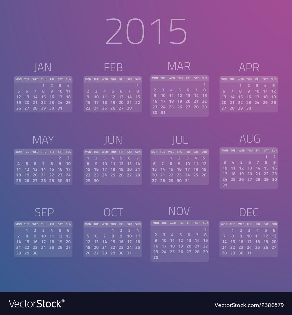 Gloss Calendar 2015 background