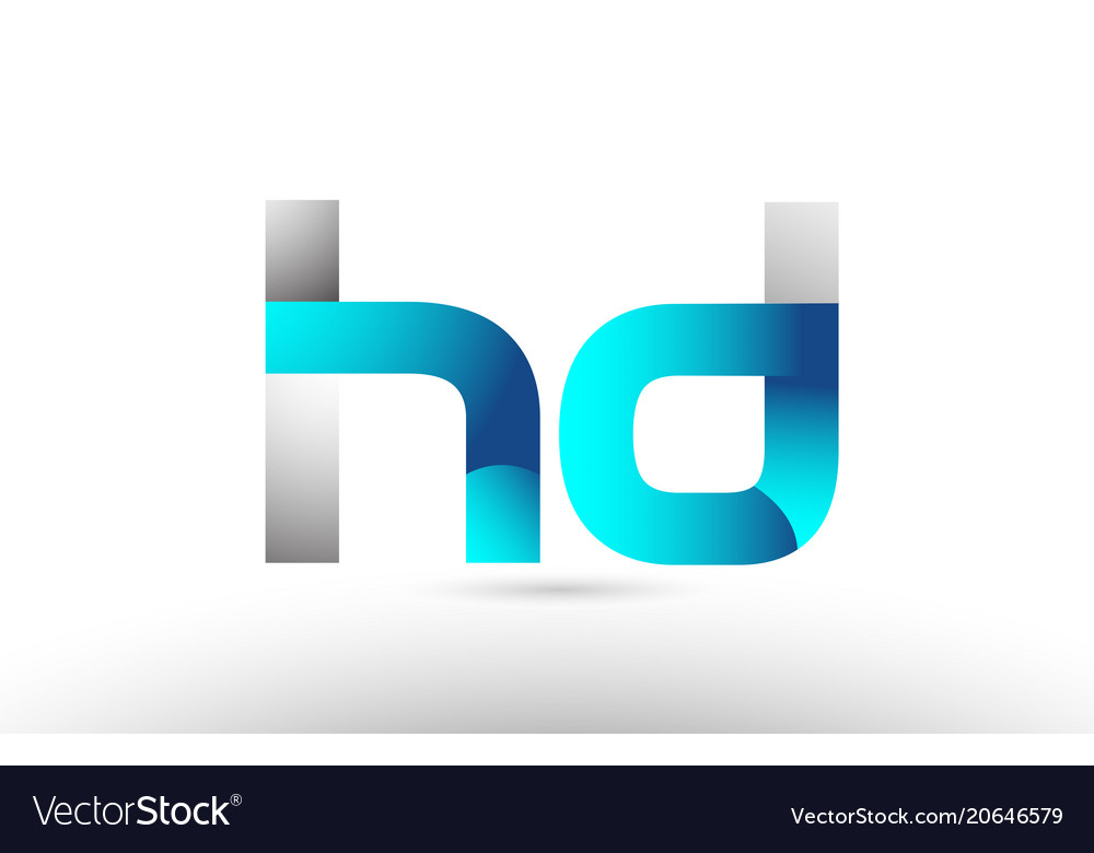 Grey blue alphabet letter hd h d logo 3d design vector image thecheapjerseys Images