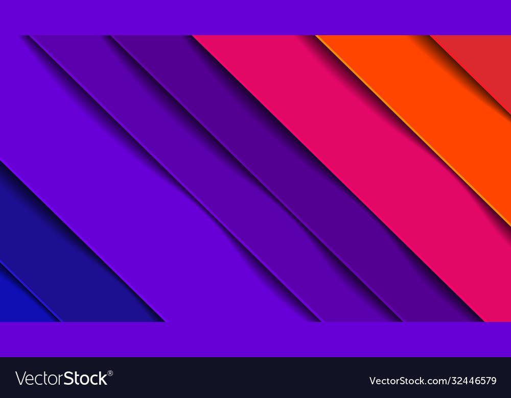Minimal geometric abstract vivid color